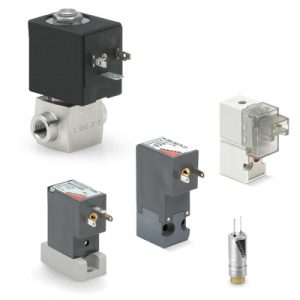 Directly and indirectly operated solenoid valves